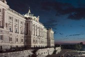 Royal Palace at Madrid Spain - architecture background — Stock Photo