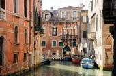 Canal with historic buildings in Venice - Italy — Stock Photo