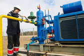 Natural gas field station equipment — Stock Photo