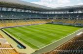 Empty stadium in sunlight — Stock Photo