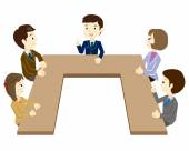 People who have a meeting — Stock Vector