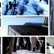 Montage fly through business managers working with technology — Stock Video #51850001