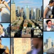 City montage of successful Multi ethnic business meetings — Stock Video #51851773