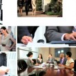 Montage fly through of Multi ethnic executive managers in work — Stock Video #51854751