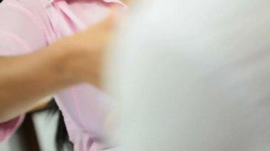 Business advisor shaking hands client — Stock Video