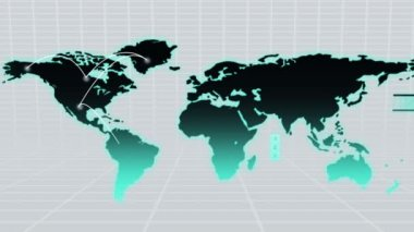 CG motion of worldwide networking map — Vídeo Stock