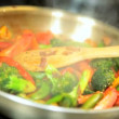 Stir Fry Vegetables Cooked Healthy Meal — Stock Video #51982247