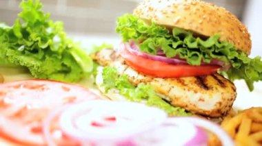 Freshly prepared healthy sandwich — Stock Video