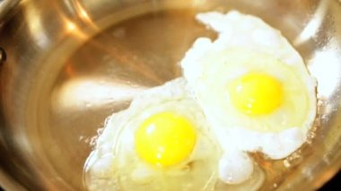 Nutritious Eggs Cooking Part Traditional Breakfast — Stockvideo