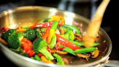 Healthy Lifestyle Option Stir Fry Meal — Stock Video