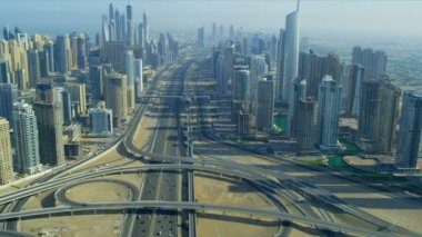 Sheikh Zayed Road, Jumeirah Lakes Interchange — Stock Video