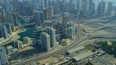 Dubai Marina, Sheikh Zayed Road — Stock Video