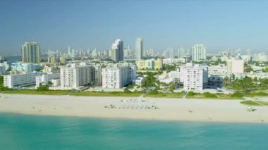 Hotels and apartments Miami South Beach — Vídeo Stock