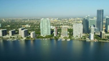 Miami City hotels and condominiums — Stock Video