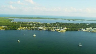 Aerial view North Key Largo — Stock Video