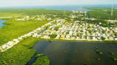 Aerial view of exclusive residential properties — Stock Video