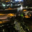Los Angeles night City commuter elevated traffic Highway Skyscrapers USA — Stock Video #58442925