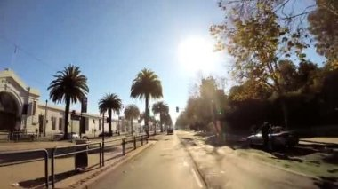 Driving on Embarcadero Wharf area — Video Stock