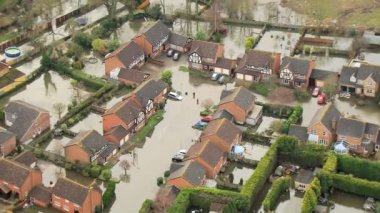 Floodwater damage River Thames, UK — Stock Video
