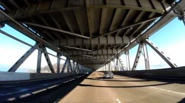 Driving across Oakland Bay Bridge — Stock Video