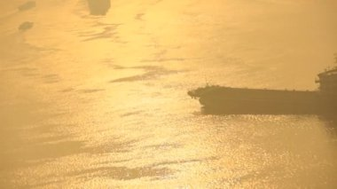 Huangpu River at sunrise — Stock Video
