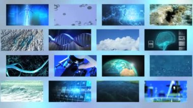 Video montage of environmental images — Stock Video
