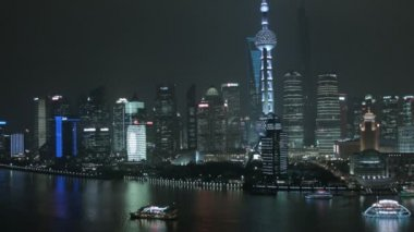 Cityscape with Oriental Pearl Tower — Vídeo de Stock