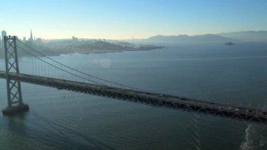 航空オークランド湾橋、San Francisco — ストックビデオ