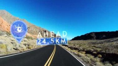 Highway Driving Nevada Desert — Stock Video
