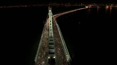 New Oakland Bay Bridge traffic — Video Stock