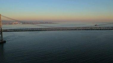 Oakland Bay Suspension Bridge — Stock Video