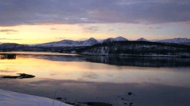 景区冬季风景 — 图库视频影像
