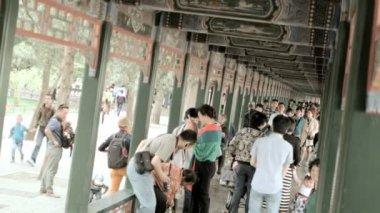 Summer Palace Long Corridor — Stock Video