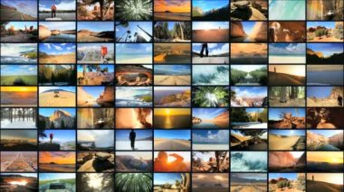 CG video montage National Parks USA tourism destinations holiday lifestyle — Stock Video