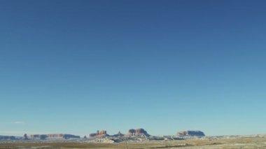 Monument Valley US Route 163 Arizona snow Colorado Plateau — Stock Video