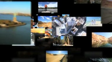 Fly through of American National Parks, famous USA destinations — Stock Video