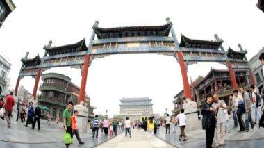Qianmen Street in Beijing — Stock Video