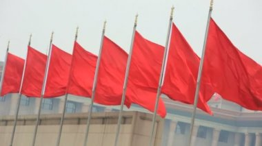 Chinese National Flag — Stock Video