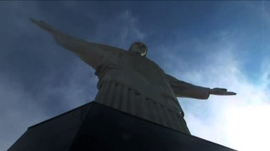 Jesus Christ the Redeemer statue — Stock Video