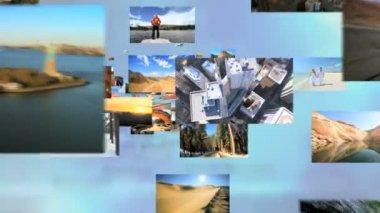 USA tourism destinations — Stock Video