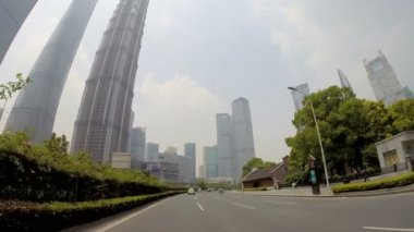 Driving at Pudong District — Stock Video