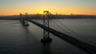 Most wiszący Oakland Bay — Wideo stockowe