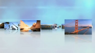 USA tourism destinations, National Parks, cities traffic — Stock Video