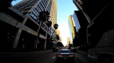 City driving in Los Angeles — Stock Video