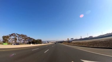 Road trip Freeway driving — Stock Video