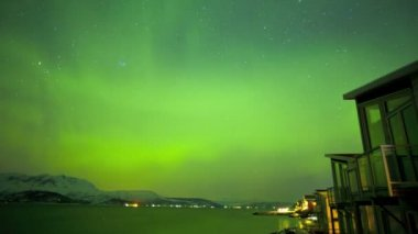 Norwegian sky with Northern Lights — Stock Video