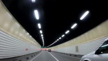 Road tunnel in Shanghai — Stock Video