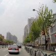 Driving suburb roads Shanghai City — Stock Video #58460057