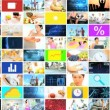 CG video montage wall ethnic healthy nutrition lifestyle app motion graphics — Stock Video #58463957