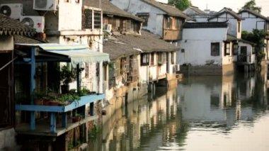 Zhujiajiao ancient water town — Stock Video